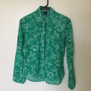 Green Gap Button up blouse